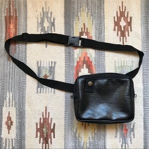 Vintage Belt Black Bag Fanny Pack Waist Purse